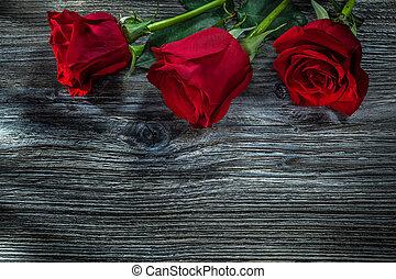 木製である, ばら, 板, 赤, 束