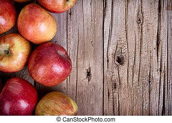木製である, りんご, 板
