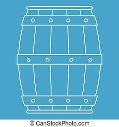 木製である, アイコン, 樽, スタイル, アウトライン