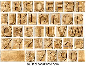 木製である, アルファベット