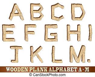 木製である, アルファベット, m, 板