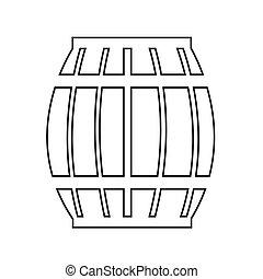 木製である, イラスト, 小樽, ビール, デザイン, アイコン