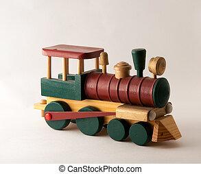 木製である, エンジン, 列車, おもちゃ