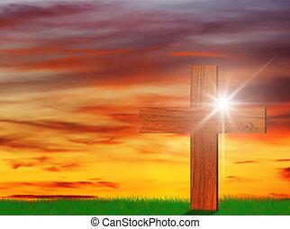 木製である, キリスト教徒, 交差点, 神聖