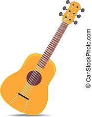 木製である, ギター, ベクトル, イラスト, クラシック