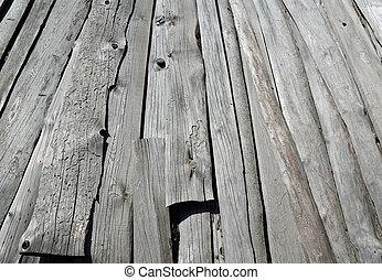 木製である, グレーのバックグラウンド
