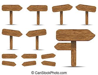 木製である, サイン