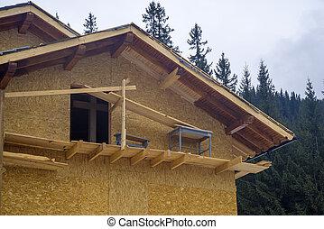 木製である, シャレー, 建設