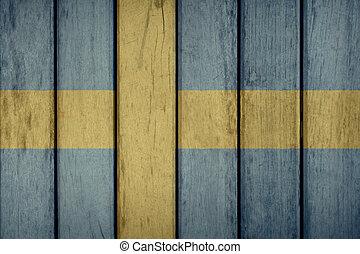 木製である, スウェーデンの旗, フェンス
