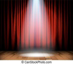 木製である, ステージ, 劇場, 床