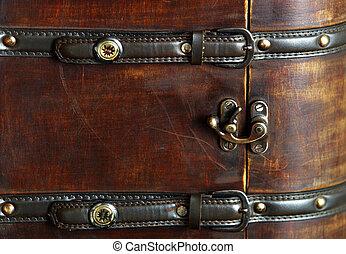 木製である, スーツケース