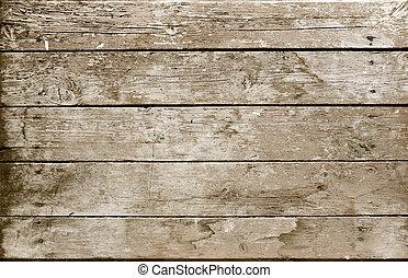 木製である, セピア, 板, 外気に当って変化した