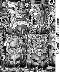 木製である, セール, mayan, マスク, メキシコ\