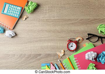 木製である, テキスト, 背景, 動かない, スペース, 平面図, 別