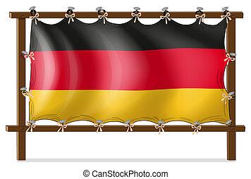 木製である, ドイツ語, フレーム, 旗