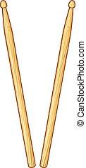 木製である, ドラムスティック, ドラム, 2, (pair