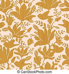 木製である, パターン, モクレン, seamless, 背景, textured, 花