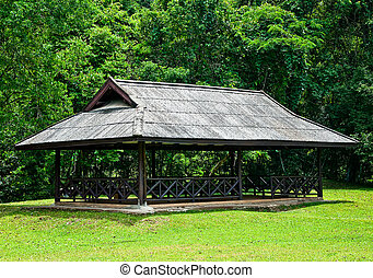 木製である, パビリオン, 公園