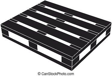 木製である, パレット, シンボル, 黒