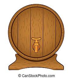 木製である, ビール樽