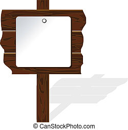 木製である, ベクトル, 板