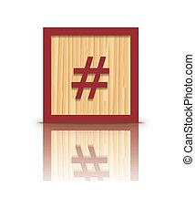 木製である, ベクトル, 格子, ブロック, 印