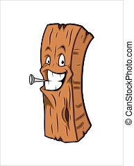 木製である, ベクトル, 特徴, マスコット