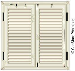 木製である, ペイントされた, 窓, 古い, 白