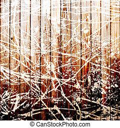 木製である, ペンキ, 白いフェンス