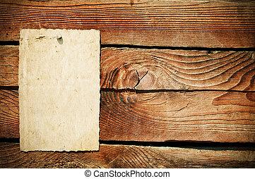木製である, ペーパー, グランジ, 背景