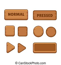 木製である, ボタン, ゲーム