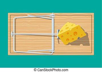 木製である, マウスの トラップ, チーズ