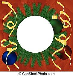 木製である, マホガニー, 旗, クリスマス, 背景