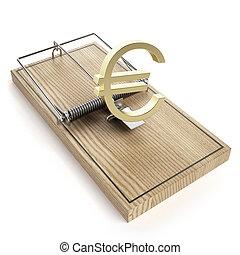 木製である, ユーロ, マウスの トラップ, 印