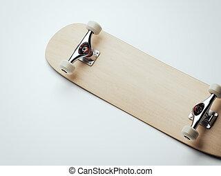 木製である, レンダリング, 3d, ブランク, skateboard.