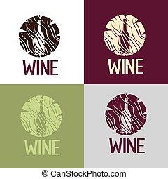 木製である, ワイン, 丸太, bootle