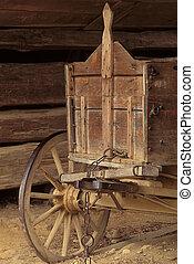 木製である, ワゴン, 古い