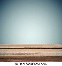 木製である, 上に, レトロ, 背景, テーブル, 抽象的