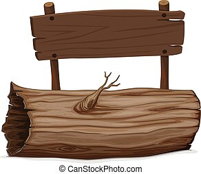 木製である, 丸太, 印