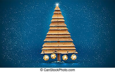 木製である, 休日, 板, 金, クリスマス, 古い, jingle., 木