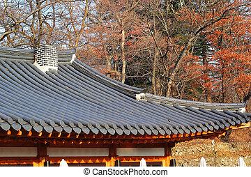 木製である, 伝統的である, 韓国南, 家