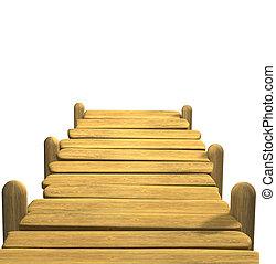 木製である, 係留