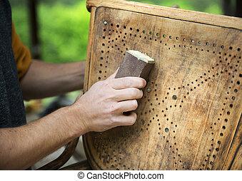 木製である, 修復, 家具