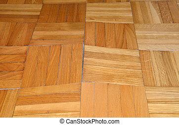 木製である, 傷つけられる, 寄せ木張りの床