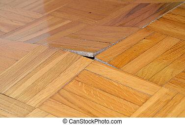 木製である, 傷つけられる, 床