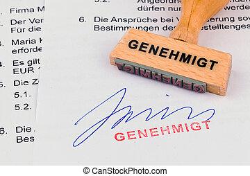 木製である, 切手, 上に, ∥, document:, 公認