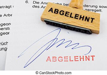木製である, 切手, 上に, ∥, document:, 拒絶された