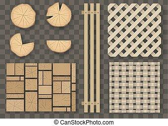 木製である, 別, セット, 要素