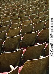 木製である, 劇場, 席