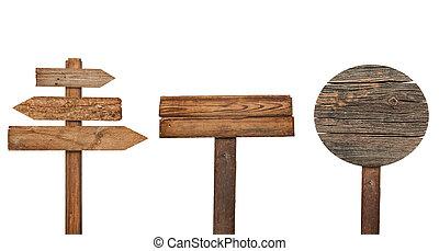 木製である, 印, メッセージ, 背景